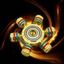 Messing Hand Spinner Herumzappeln Keramik Ball Tisch Fokus Spielzeug EDC
