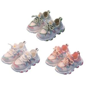 Baby Toddler Anti Slip Sneakers Soft Soled Breathable Lace Up Casual Sport Shoes