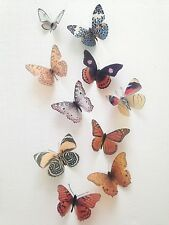 Butterfly Decorations 10 Natural 3D Butterflies Home Pictures Wedding Hand Made
