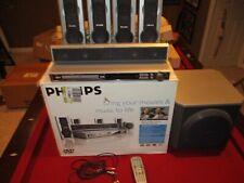 Phillips MX6050D DVD Digital Surround Home Theatre system Speakers Subwoofer Rem