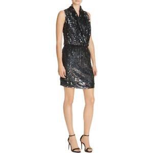 Parker Womens Lysette Black Party Sequined Mini Cocktail Dress S BHFO 9805