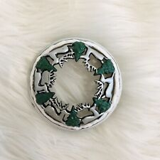 yankee candle illuma lid topper Christmas Reindeer Green Trees Frosted Snow