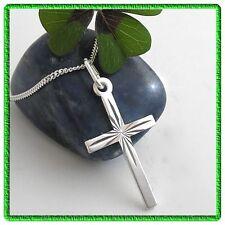 Echt Silber Kreuz Anhänger Kreuzanhänger Kette Firmung kommunion Konfirmation