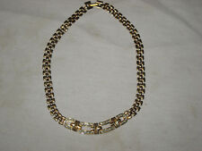 Old Collectible Gold Tone Rhinestone Necklace