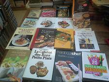 lot de 16 livres de cuisine recette conseils culinaires gastronomie