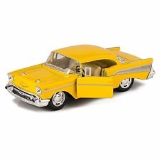 Kinsmart 1957 Chevrolet Bel Air Hard Top 1:40 Diecast Toy Car Model yellow