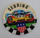 Sebring Florida Oval Bumper Sticker or Helmet Sticker D1595 Euro Oval