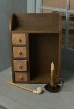 Wood BROWN Spice/Candle/Garden Seeds CABINET BOX/Cubby/Shelf*Farmhouse Decor