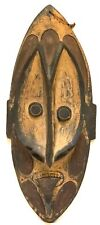 PAPUA NEW GUINEA VINTAGE CARVED NATIVE TRIBAL WOOD MASK