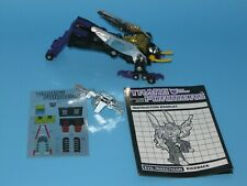 1984 Transformers G1 Kickback With Instruction Booklet, Decals & Accessory Part
