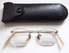 Vintage 1920s Hadley Rimless Eyeglasses Spectacles Steampunk + Original Case