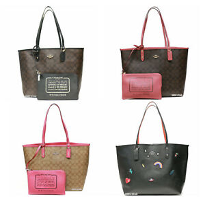 Coach Signature reversible PVC City tote