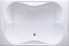 """Carver Tubs TMS7248 72"""" - Soaking Drop In Bathtub - White Acrylic - Two Person"""
