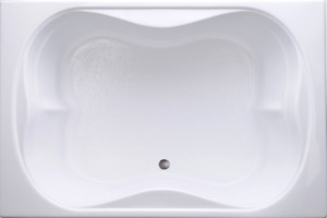 "Carver Tubs TMS7248 72"" - Soaking Drop In Bathtub - White Acrylic - Two Person"