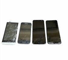 Lot 4 Mixed Cell Phones | Samsung, HTC & LG | Broken Display | AS-IS Untested