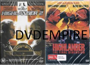 Highlander 2 + The Final Dimension DVD (2DVD SET) New Sealed Australian Release