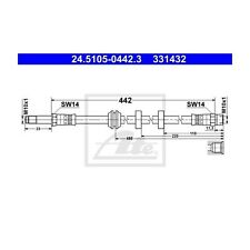 2 St. ATE 24.5105-0442.3 Bremsschlauch   VW Golf III Golf III Variant Vento