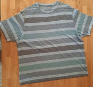 """Gorgeous Short Sleeved Blue Striped Top size XXL (47-49"""") Marks and Spencer"""