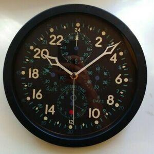 Wall Clock 24 hours Hamilton AN-5741-1 E-37500 Aircraft Cockpit Chronograph