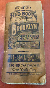 Vintage Antique Red Book of Brooklyn 1928 Maps of Brooklyn NY Borough Info Guide