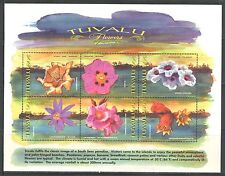 FLOWERS ON TUVALU 1999 Scott 811, SHEET OF 6 DIFFERENT, MNH