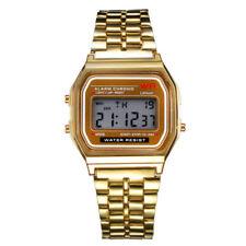 Elegant Men Women Retro Stainless Steel LCD Digital Sport watch Wrist Watch ZX