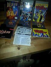 3-RARE original NES collectible video games-DEJA VU, X-MEN, DICK TRACY