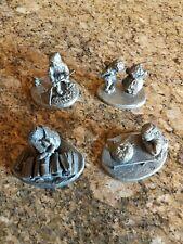 F. Robert Drury Pewter Figurines Set Of 4