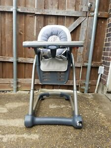 Graco Blossom 6 in 1 Convertible High Chair Seating System Grey Baby Chair READ