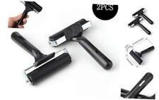 Sansheng 2PCS 4-inch Rubber Brake Roller, Soft Rubber Brake, Rubber Drum Paint B