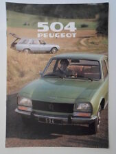 PEUGEOT 504 RANGE 1979 UK Mkt Sales Brochure