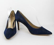 Via Spiga Siletto Heel Pumps Shoes 10 M Lapis Blue Dotted Suede Leather Outsole