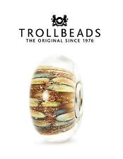 Genuine Trollbeads 925 sterling silver Purple MAGICAL LAMP Murano charm bead
