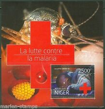 NIGER  2014  BATTLE AGAINST MALARIA RED CROSS SOUVENIR SHEET  PERFORATED MINT NH