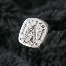 Freemason Signet Ring Masonic Pillars Boaz Jachin Solomon Temple Silver 925 Gold