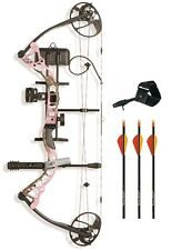 New Diamond Infinite Edge Pro LH 5-70# Pink Blaze Bow Package w/ Arrows Release