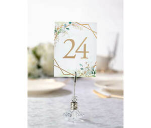 Table Numbers Wedding 1-24 Reception Decorations Signs