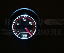 Smoke Lens Electrical 2'' Fuel Level Gauge with LED lights Hot Rod Racing