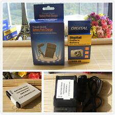 Battery + Charger For Panasonic Lumix DMC-ZS30, DMC-ZS35,DMC-ZS40 Digital Camera