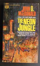 GM1699 THE NEON JUNGLE by JOHN D MacDONALD VG+ NOIR CLASSIC SHARP!