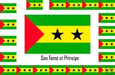 Assortiment lot de 25 autocollants Vinyle stickers drapeau Sao-Tomé-et-Principe