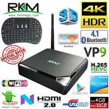 MK39 RK3399 Hexa Core 4G 32G Android 7.1 TV Media Box + i8 USB Keyboard Touchpad