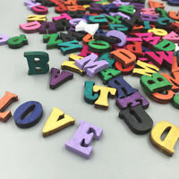 100pcs Embellishments Letters Wooden Alphabet Scrapbook Card Making Craft DIY