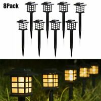 8 Pack Outdoor Garden Solar Power Pathway Lights Landscape Lawn Patio Yard Lamp