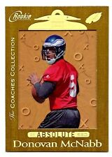 1999 Playoff Absolute Donovan McNabb Coach's Collection GOLD /25 Rookie  Rare!