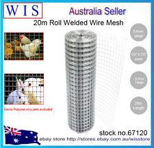 0.9 x 20m Welded Wire Mesh Animal Fence Graden Pet Chicken Coop Aviary Fencing