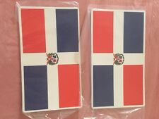 """TWO Dominican Republic Flags Fridge  Magnet - Large  7"""" x 4"""""""