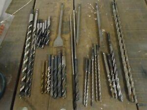 Bohrer Konvolut (Stein-, Stahl-, Holzbohrer) + Meißel SDS-Plus