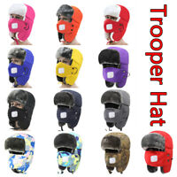 Women Men Kids Fleece Balaclava Hat Trooper Snow Ski Neck Face Mask Hood Cap