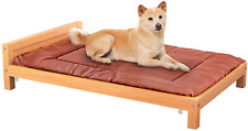 New listing Homykic Dog Bed, Elevated Fir Wood Dog Bed Raised Pet Bed Furniture with Removab